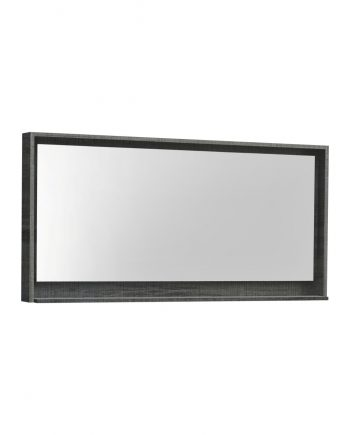 "60"" Wide Mirror w/ Shelf - Ocean Gray"