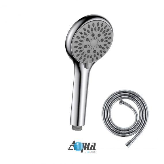 "Aqua by KubeBath 4"" Multifunction Handheld With Flexible Hose"