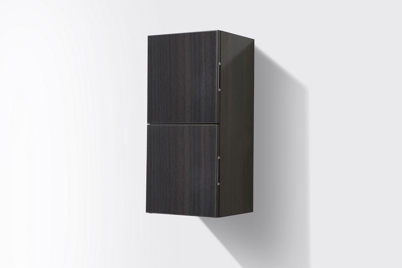 Bathroom Gray Oak Linen Side Cabinet W 2 Storage Areas