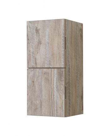 Bathroom Nature Wood Linen Side Cabinet w/ 2 Storage Areas