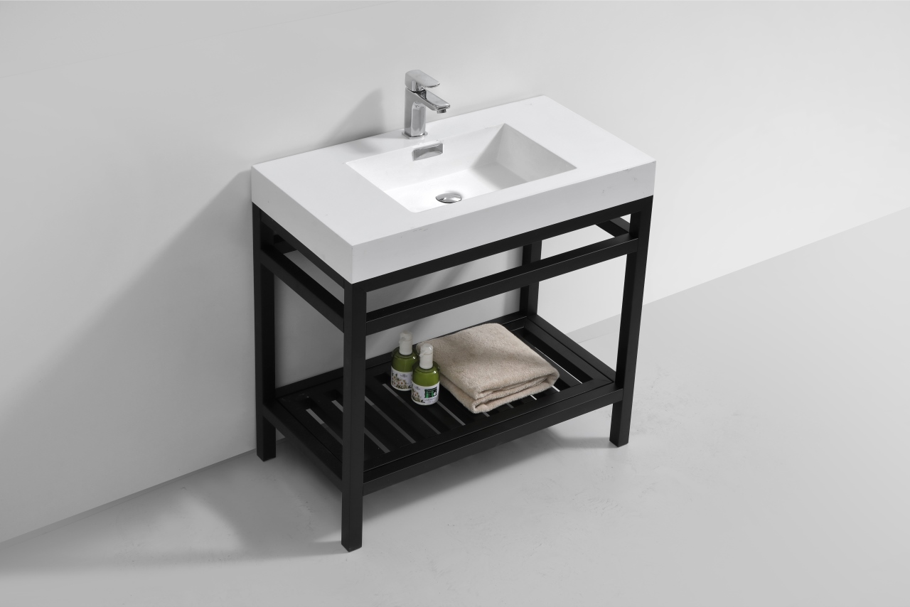 Cisco 36 Quot Stainless Steel Console W White Acrylic Sink