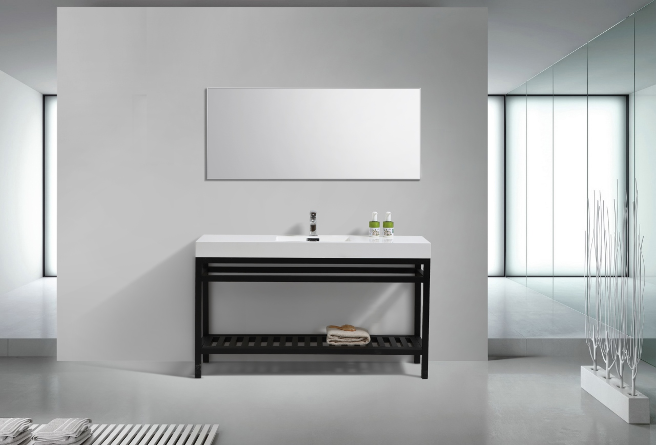 Cisco 60 Quot Single Sink Stainless Steel Console W White