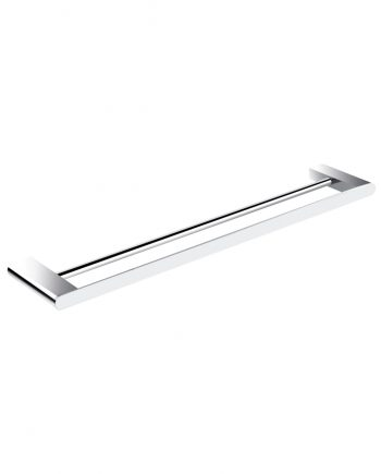 "Aqua Chiaro 24"" Double Towel Bar - Chrome"