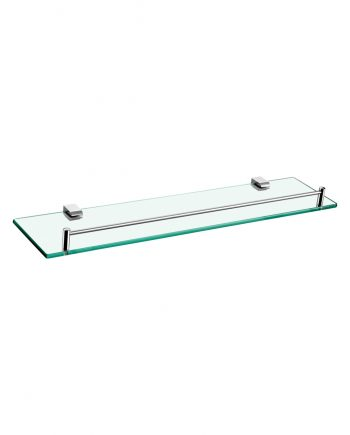 Aqua Chiaro Glass Shelve - Chrome