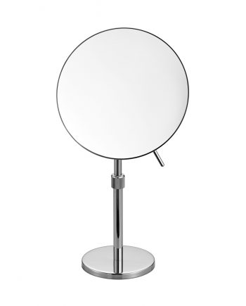 Aqua Rondo by KubeBath Magnifying Mirror W/ Adjustable Height - Chrome