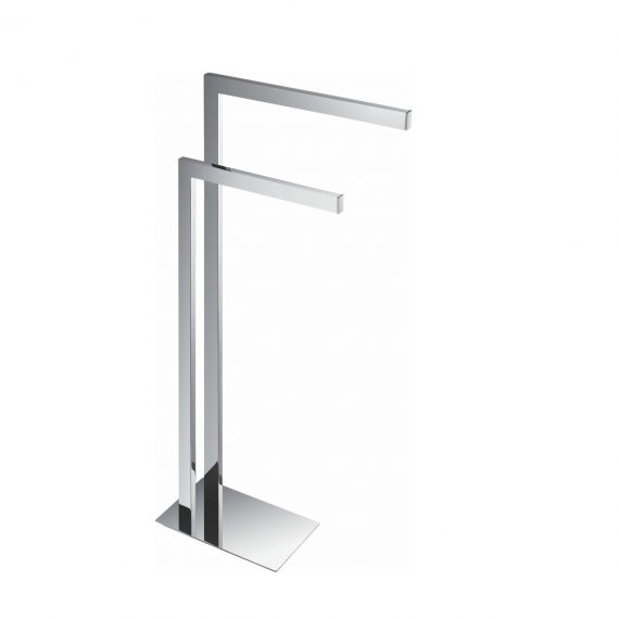 Aqua Piazza Free Standing Towel Rack - Chrome