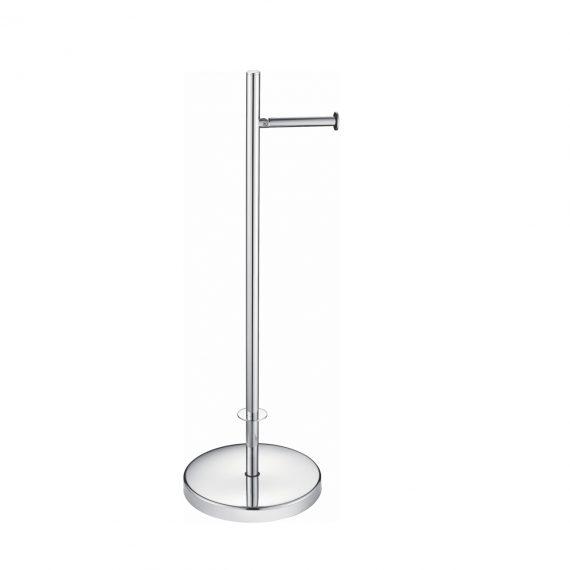 Aqua Rondo Free Standing Toilet Paper Holder - Chrome