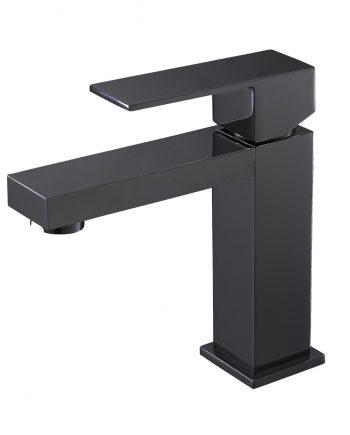 Aqua Kubo Single Lever Bathroom Vanity Faucet - Matte Black