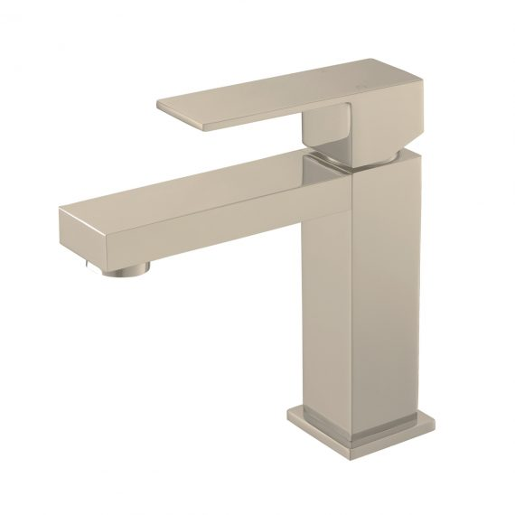 Aqua Kubo Single Lever Bathroom Vanity Faucet - Brushed Nickel