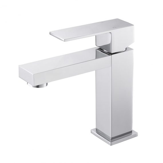 Aqua Kubo Single Lever Bathroom Vanity Faucet - Chrome
