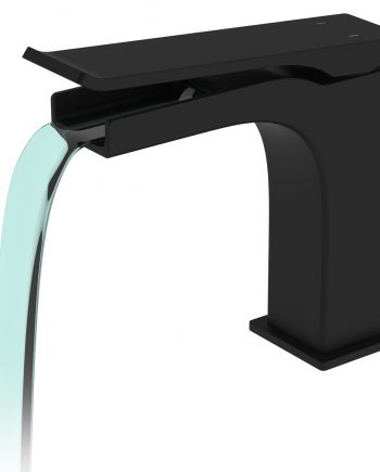 Aqua Cascata Single Lever Bathroom Vanity Faucet - Matte Black