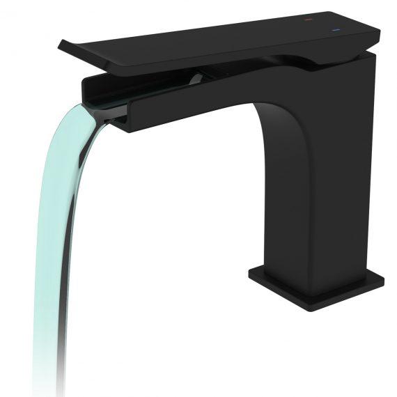 Aqua Cascata Single Lever Bathroom Vanity Faucet - Matte Black