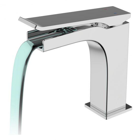 Aqua Cascata Single Lever Bathroom Vanity Faucet - Chrome