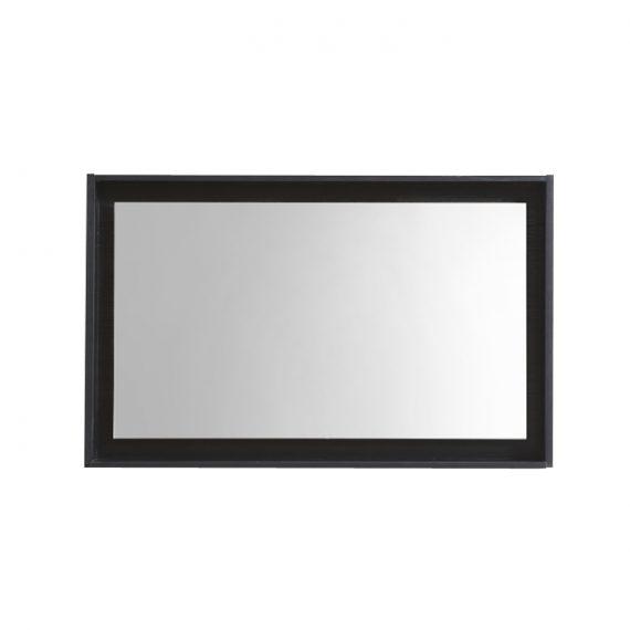 """36"""" Wide Mirror w/ Shelf - Black"""