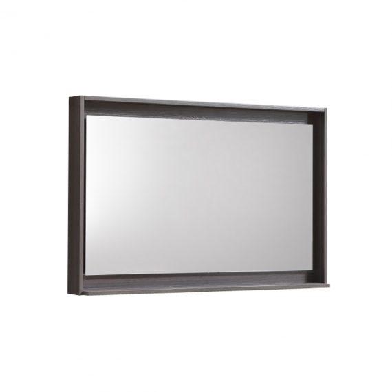 """36"""" Wide Mirror w/ Shelf - Gray Oak"""