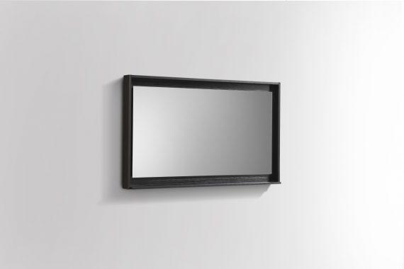 """40"""" Wide Mirror w/ Shelf - Black"""