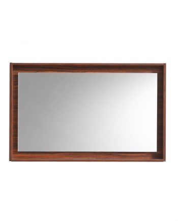 "40"" Wide Mirror w/ Shelf - Walnut"