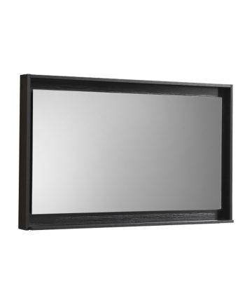 "48"" Wide Mirror w/ Shelf - Black"