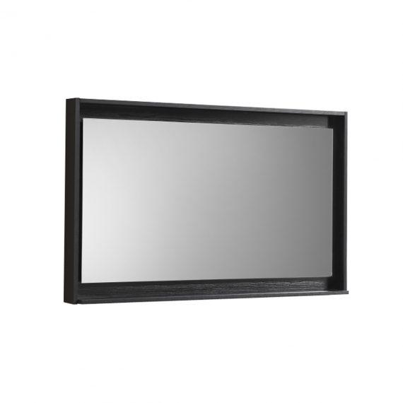 """48"""" Wide Mirror w/ Shelf - Black"""