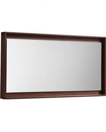 "48"" Wide Mirror w/ Shelf - Walnut"