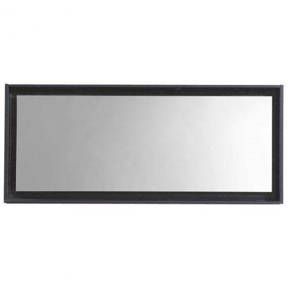 """60"""" Wide Mirror w/ Shelf - Black"""