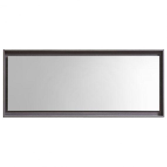 """60"""" Wide Mirror w/ Shelf - Gray Oak"""