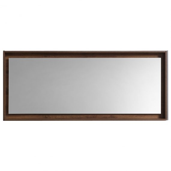 "60"" Wide Mirror w/ Shelf - Walnut"
