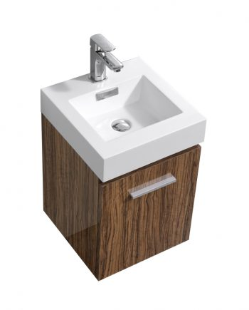 "Bliss 16"" Chestnut Wall Mount Modern Bathroom Vanity"
