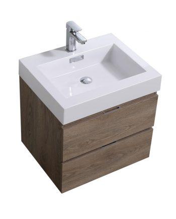 """Bliss 24"""" Butternut Wall Mount Modern Bathroom Vanity"""