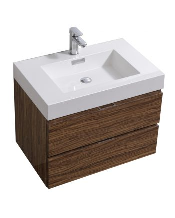 "Bliss 30"" Chestnut Wall Mount Modern Bathroom Vanity"
