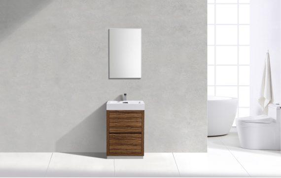 """Bliss 24"""" Chestnut Free Standing Modern Bathroom Vanity"""