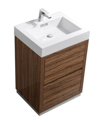 "Bliss 24"" Chestnut Free Standing Modern Bathroom Vanity"