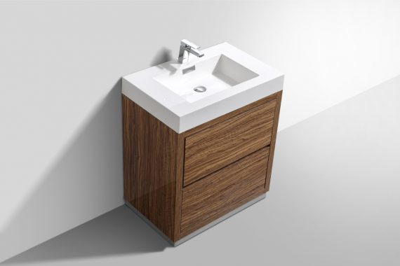 Bliss 30 Chesnut Free Standing Modern Bathroom Vanity
