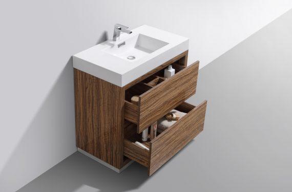 """Bliss 36"""" Chestnut Free Standing Modern Bathroom Vanity"""