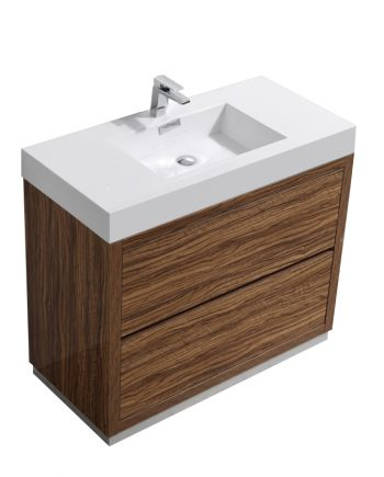 "Bliss 40"" Chestnut Free Standing Modern Bathroom Vanity"