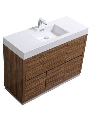 """Bliss 48"""" Chestnut Free Standing Modern Bathroom Vanity"""