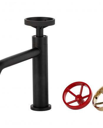 Aqua Loft Single Lever Bathroom Vanity Faucet -Matte Black