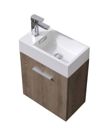 "Bliss 18"" Butternut Wall Mount Modern Bathroom Vanity"